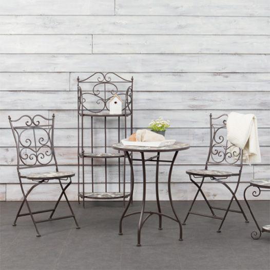 Chaise de jardin pliante Mosaïque Eglantine - Salon de jardin, table ...