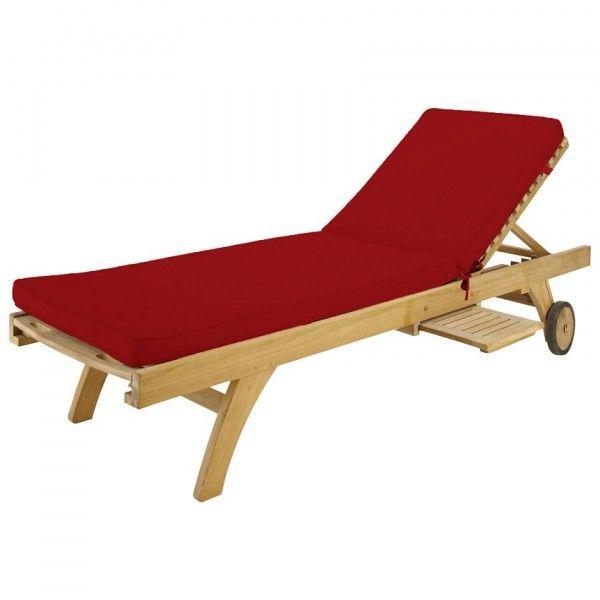 coussin bain de soleil sunny rouge coussin et matelas pour mobilier eminza. Black Bedroom Furniture Sets. Home Design Ideas