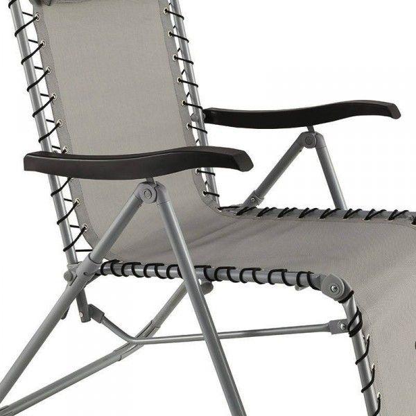fauteuil d tente silos gris bain de soleil eminza. Black Bedroom Furniture Sets. Home Design Ideas