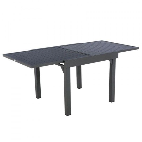 Table de jardin extensible Aluminium Piazza (max. 180 cm) - Graphite