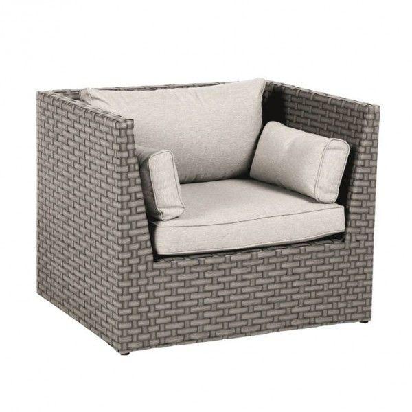 Chaise et fauteuil de jardin + Résine tressée - Salon de jardin ...