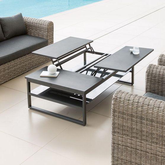 table basse san rafael graphite table de jardin eminza. Black Bedroom Furniture Sets. Home Design Ideas
