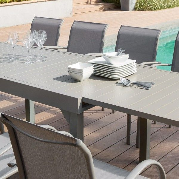 Table de jardin extensible Aluminium Piazza (max. 300 cm) - Taupe