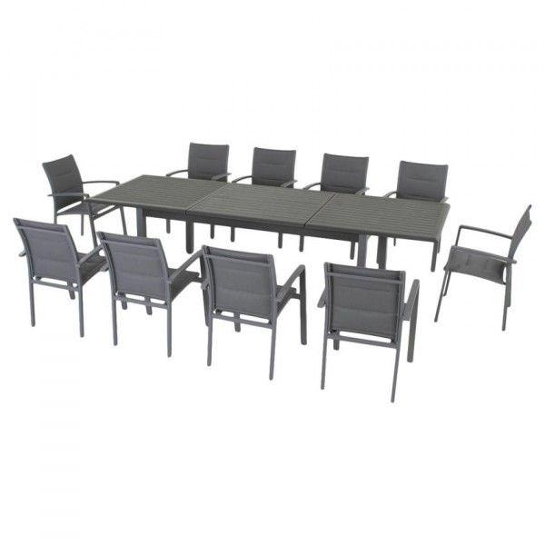 Azua240 CmArdoise Jardin X De Extensible Aluminium 100 Table trdCxshQ