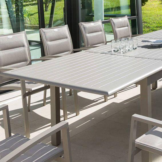Table de jardin extensible Aluminium Azua (max. 240 cm) - Taupe ...