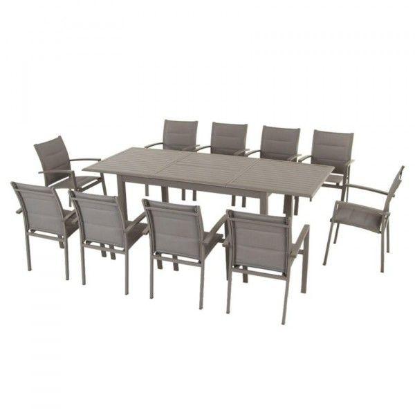 Azuamax240 Table Jardin Extensible Aluminium CmTaupe De OwkP80n