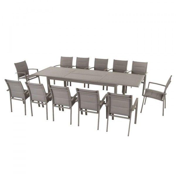 Table de jardin extensible Aluminium Azua (max. 300 cm) - Taupe ...