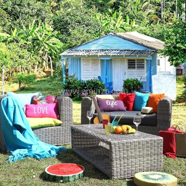 Salon de jardin libertad sepia gris anthracite 5 places salon de jardin table et chaise - Chaise de jardin gris anthracite ...