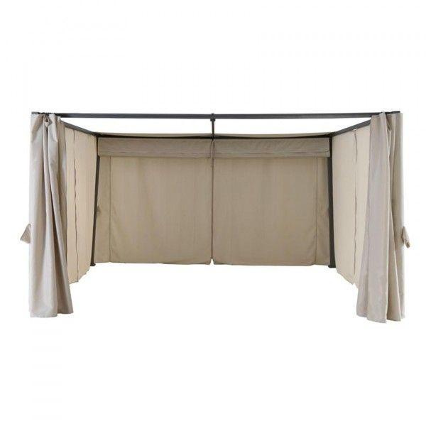 Lot de 4 rideaux de tonnelle Palmeira (3 x L4 m) - Sable - Tonnelle ...