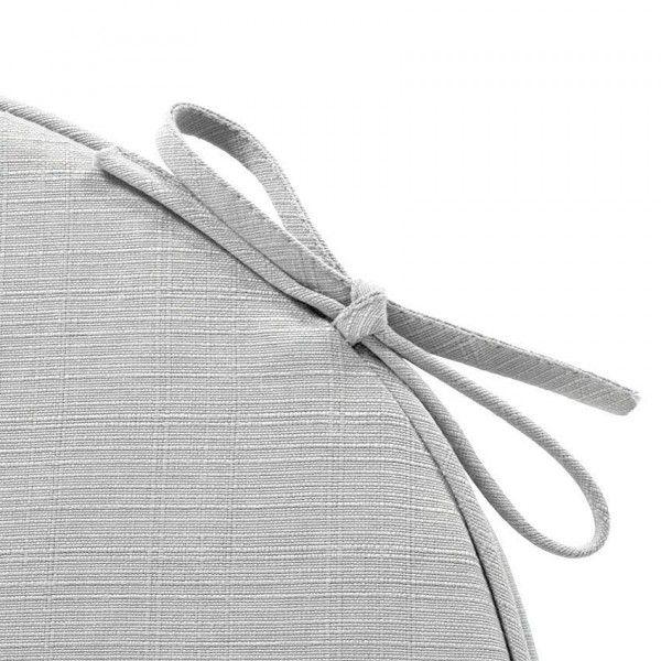 coussin de chaise rond river gris cendr textile d. Black Bedroom Furniture Sets. Home Design Ideas