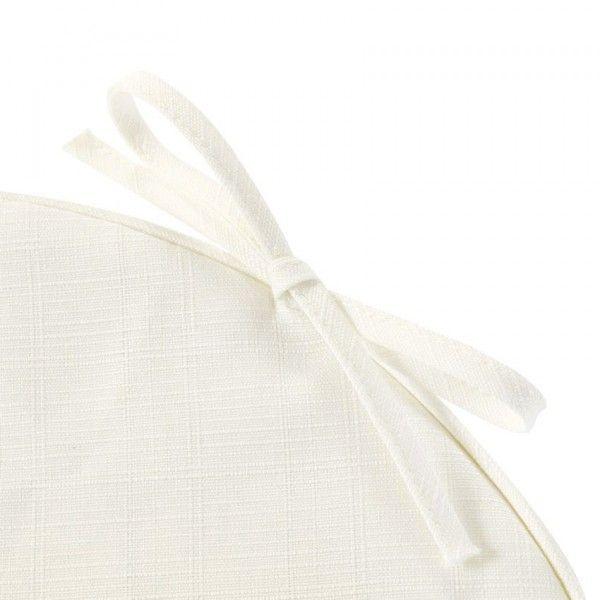 Coussin De Chaise Rond River Blanc Textile D Exterieur Eminza