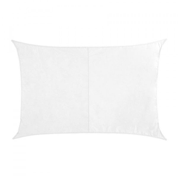 Voile d'ombrage Rectangulaire (2 x 3 m) Curacao - Blanc