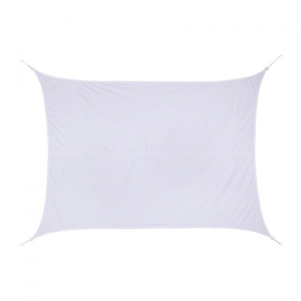 Voile d'ombrage Rectangulaire (3 x 4 m) Anori - Blanc