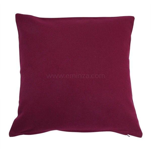 coussin et housse de coussin violet coussin et galette eminza. Black Bedroom Furniture Sets. Home Design Ideas