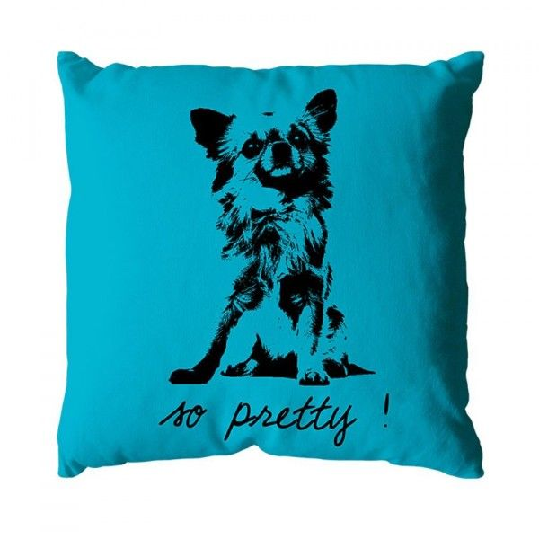 Coussin Chihuahua Turquoise
