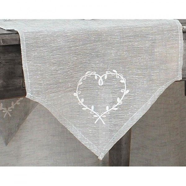 Chemin de table linge de table eminza for Chemin de table gris