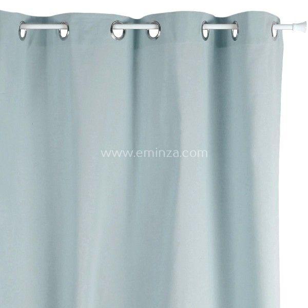 rideau tamisant 140 cm x h240 etna bleu gris rideau voilage store eminza. Black Bedroom Furniture Sets. Home Design Ideas