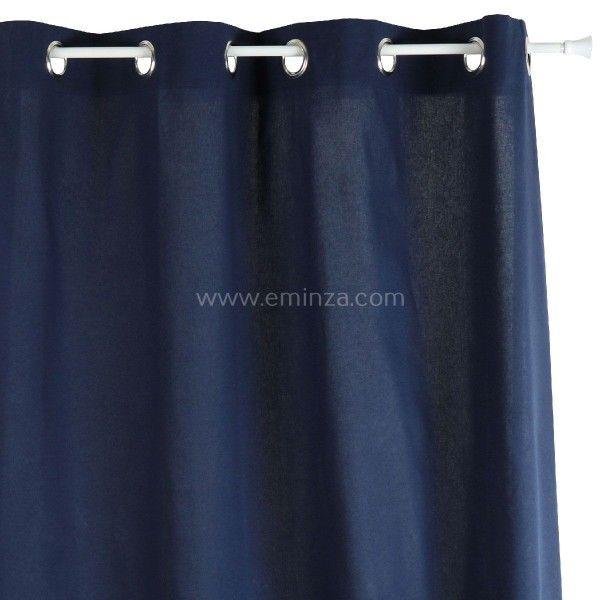 rideau tamisant 140 cm x h240 etna bleu marine rideau. Black Bedroom Furniture Sets. Home Design Ideas