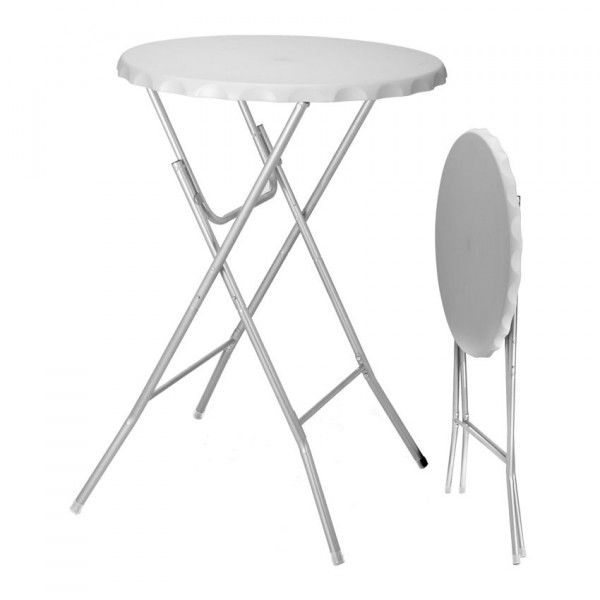 Table haute pliante Zahia - Blanc