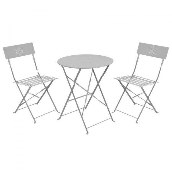 salon de jardin pliant bistro gris clair 2 personnes. Black Bedroom Furniture Sets. Home Design Ideas