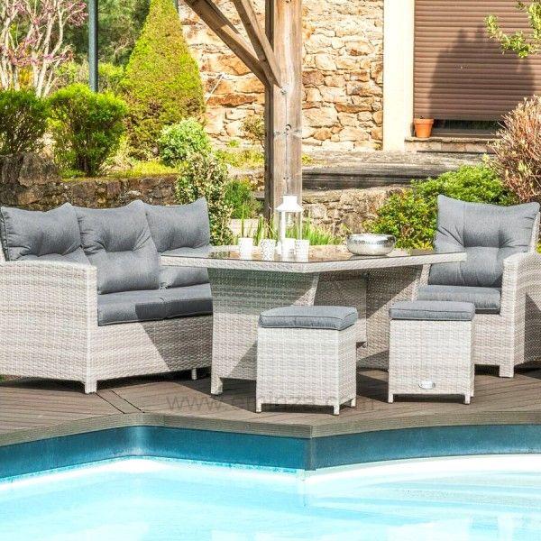 salon de jardin tivoli gris 7 places salon de jardin table et chaise eminza. Black Bedroom Furniture Sets. Home Design Ideas