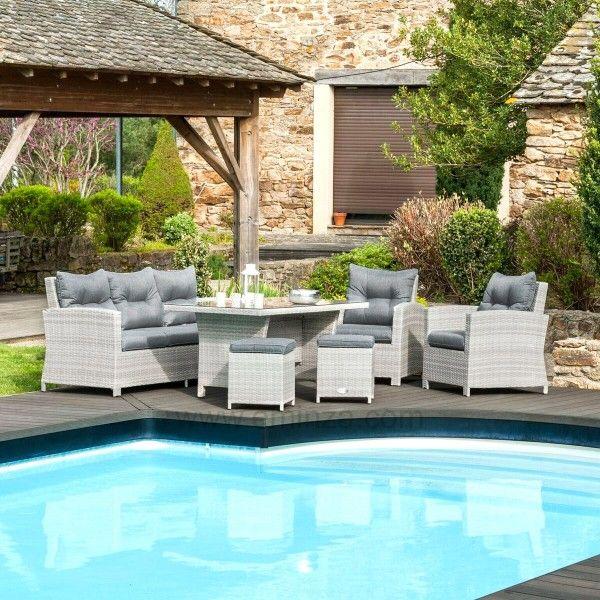 Salon de jardin panama gris 7 places salon de jardin for Place gratuite salon agriculture
