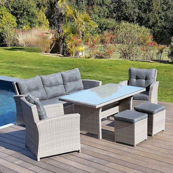 Table Haute De Jardin Panama Gris