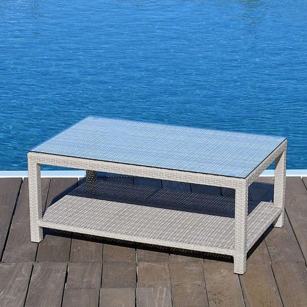 Table basse de jardin Panama - Gris