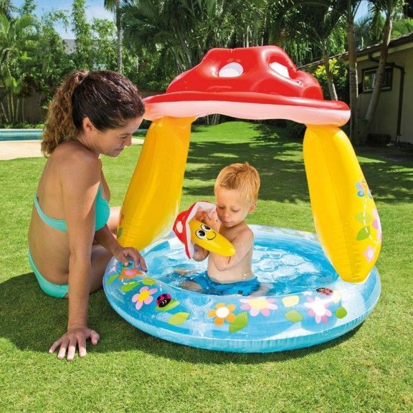 Piscine gonflable Pare-Soleil Champignon - Intex