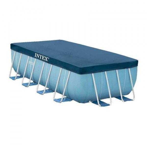 B che pour piscine tubulaire rectangulaire l4 m intex piscine spa et gonflable eminza - Bache pour piscine rectangulaire ...