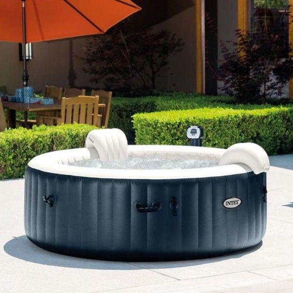 spa bulles plus 4 personnes bleu nuit intex spa et. Black Bedroom Furniture Sets. Home Design Ideas