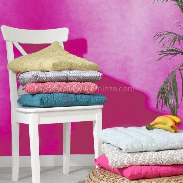 coussin de chaise sina turquoise galette et coussin de chaise eminza. Black Bedroom Furniture Sets. Home Design Ideas