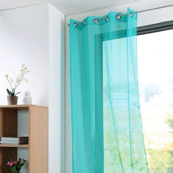 voilage bleu rideau et voilage eminza. Black Bedroom Furniture Sets. Home Design Ideas