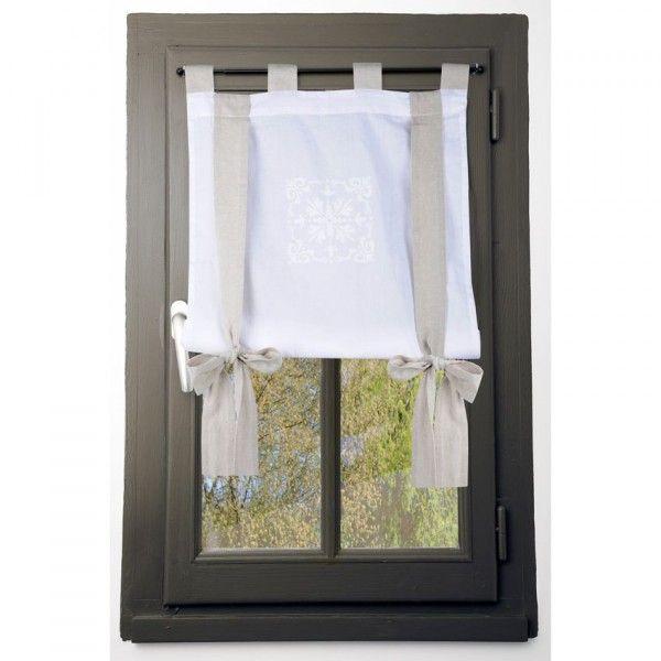 voilage vitrage largeur 80 cm rideau et voilage eminza. Black Bedroom Furniture Sets. Home Design Ideas