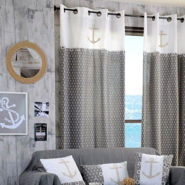 Rideaux rideau et voilage eminza - Rideau style bord de mer ...
