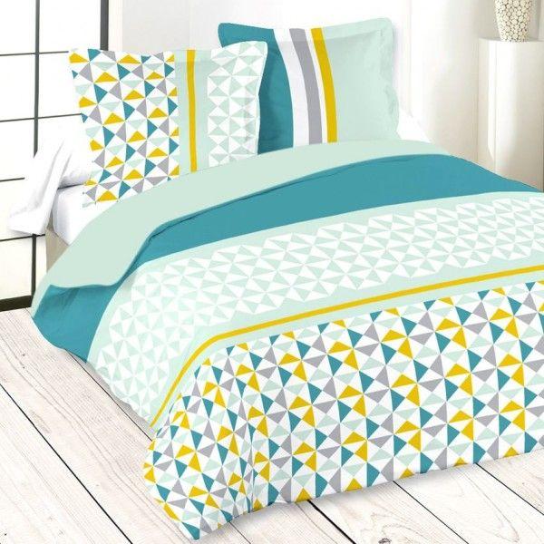linge de lit vert eminza. Black Bedroom Furniture Sets. Home Design Ideas