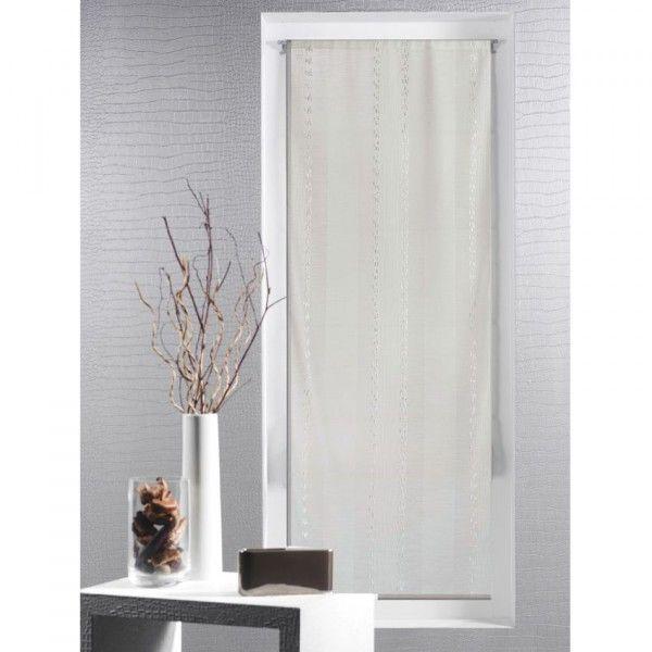 voilage vitrage ecru rideau et voilage eminza. Black Bedroom Furniture Sets. Home Design Ideas