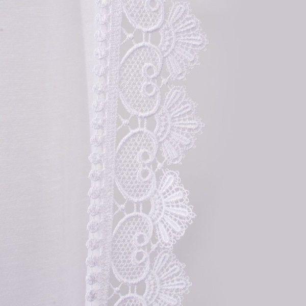 Paire de voilage bonne femme 95 x 160 cm macram agatha blanc rideau voilage store eminza - Rideaux bonne femme macrame ...