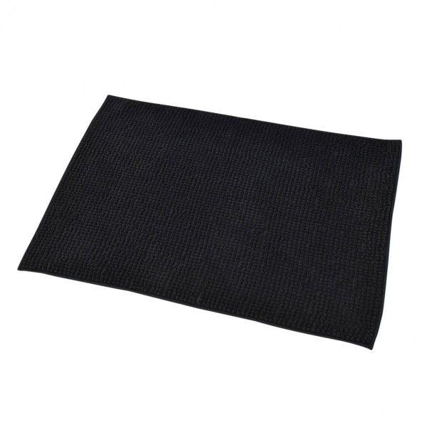 Tapis salle de bain noir tapis de bain eminza - Tapis salle de bain noir ...