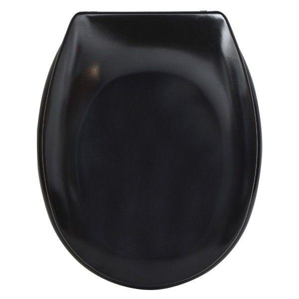 abattant wc avec frein de chute noir accessoire wc eminza. Black Bedroom Furniture Sets. Home Design Ideas