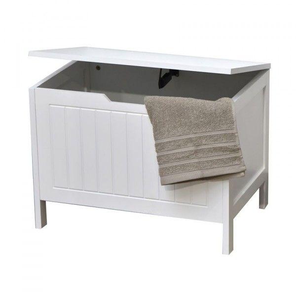 Coffre avec couvercle cap ferret meuble de salle de bain - Coffre de salle de bain ...