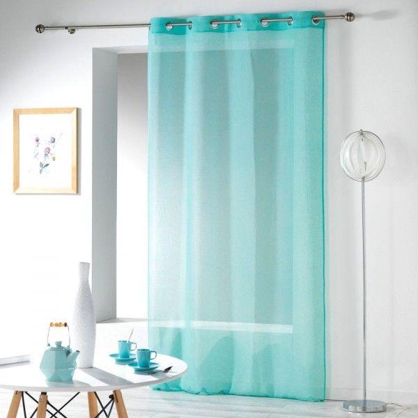 rideau et voilage bleu eminza. Black Bedroom Furniture Sets. Home Design Ideas
