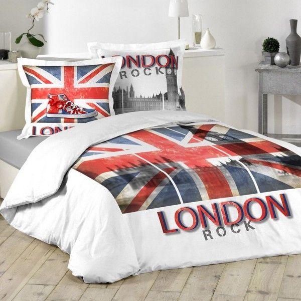 housse de couette blanc linge de lit eminza. Black Bedroom Furniture Sets. Home Design Ideas