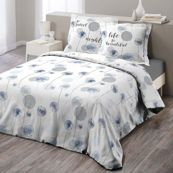 linge de lit bleu eminza. Black Bedroom Furniture Sets. Home Design Ideas