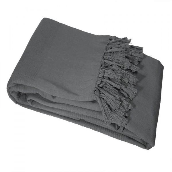 jet de canap 240 cm lana anthracite plaid et jet eminza. Black Bedroom Furniture Sets. Home Design Ideas
