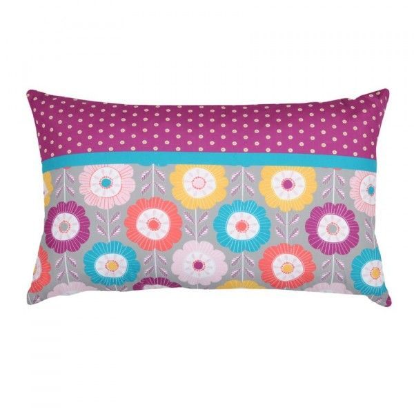 Coussin rectangulaire Guirlande Violet