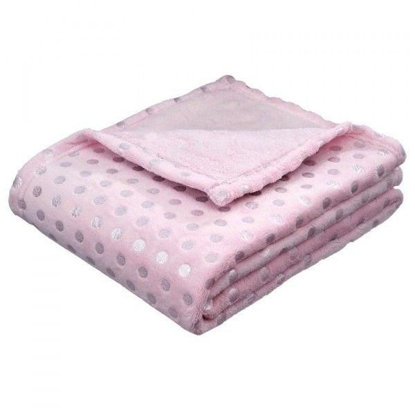 plaid doux 150 cm hellom rose plaid cocooning eminza. Black Bedroom Furniture Sets. Home Design Ideas