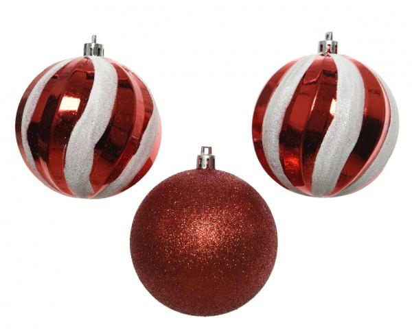 Palline Di Natale Immagini.Confezione Di 3 Palline Di Natale O80 Mm Piruette Rosso