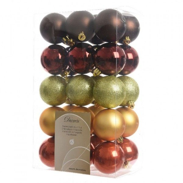 41d597d83a455 Lote de 30 bolas de Navidad Alpine Oro - Bola y decoración para ...
