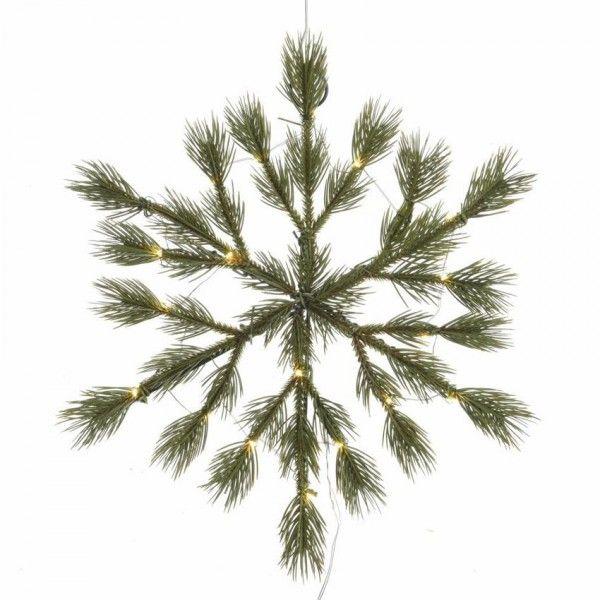 Albero Di Natale 50 Cm.Fiocco Di Neve Di Natale Illuminato Gabriel O 50 Cm Verde